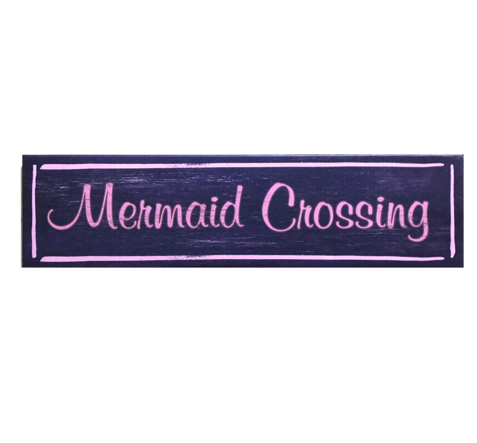 Mermaid Crossing Sign Salty Home