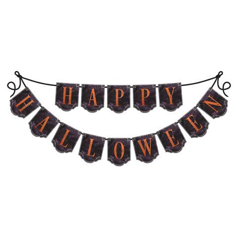 Happy halloween garland salty home for Halloween girlande
