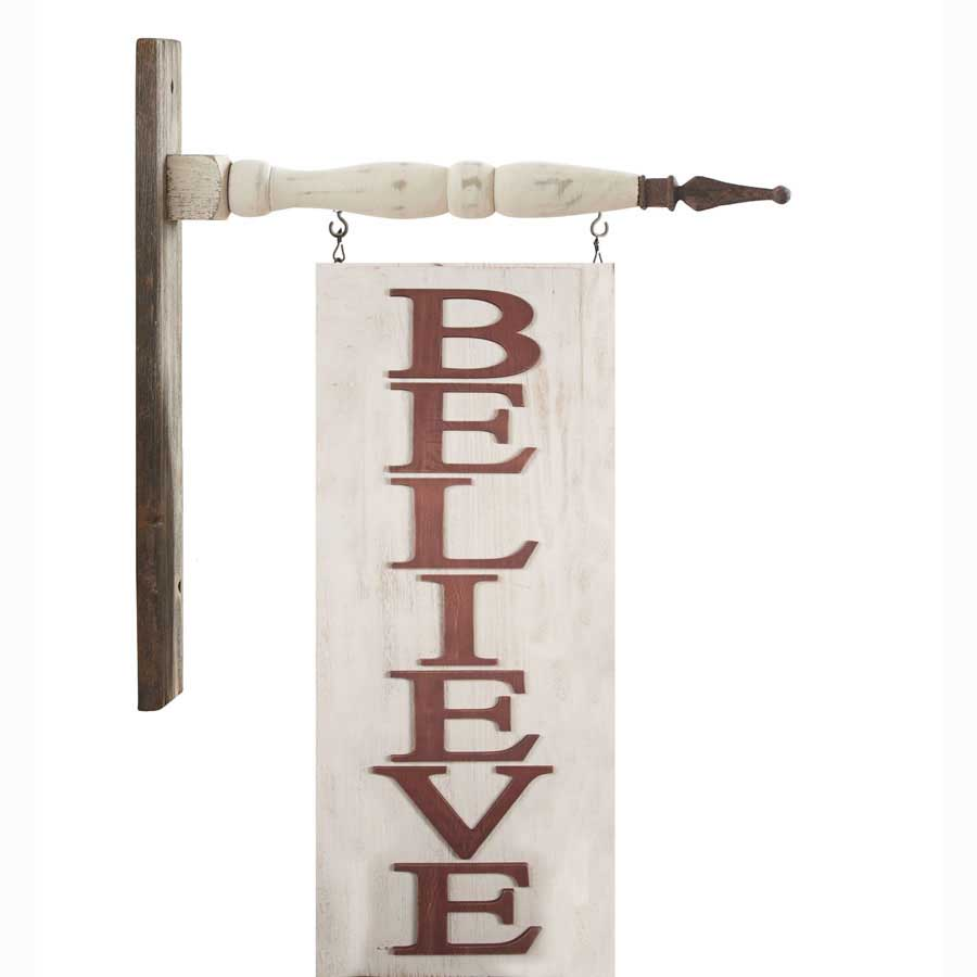 Red and White Believe Arrow Replacement Sign | Salty Home