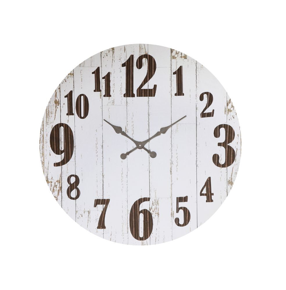 36 Round Weathered Wall Clock Salty Home