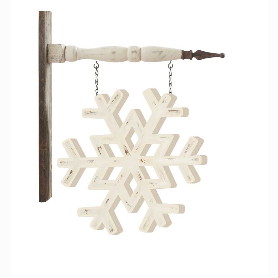 Christmas Arrow Signs.White Painted Snowflake Arrow Replacement Sign