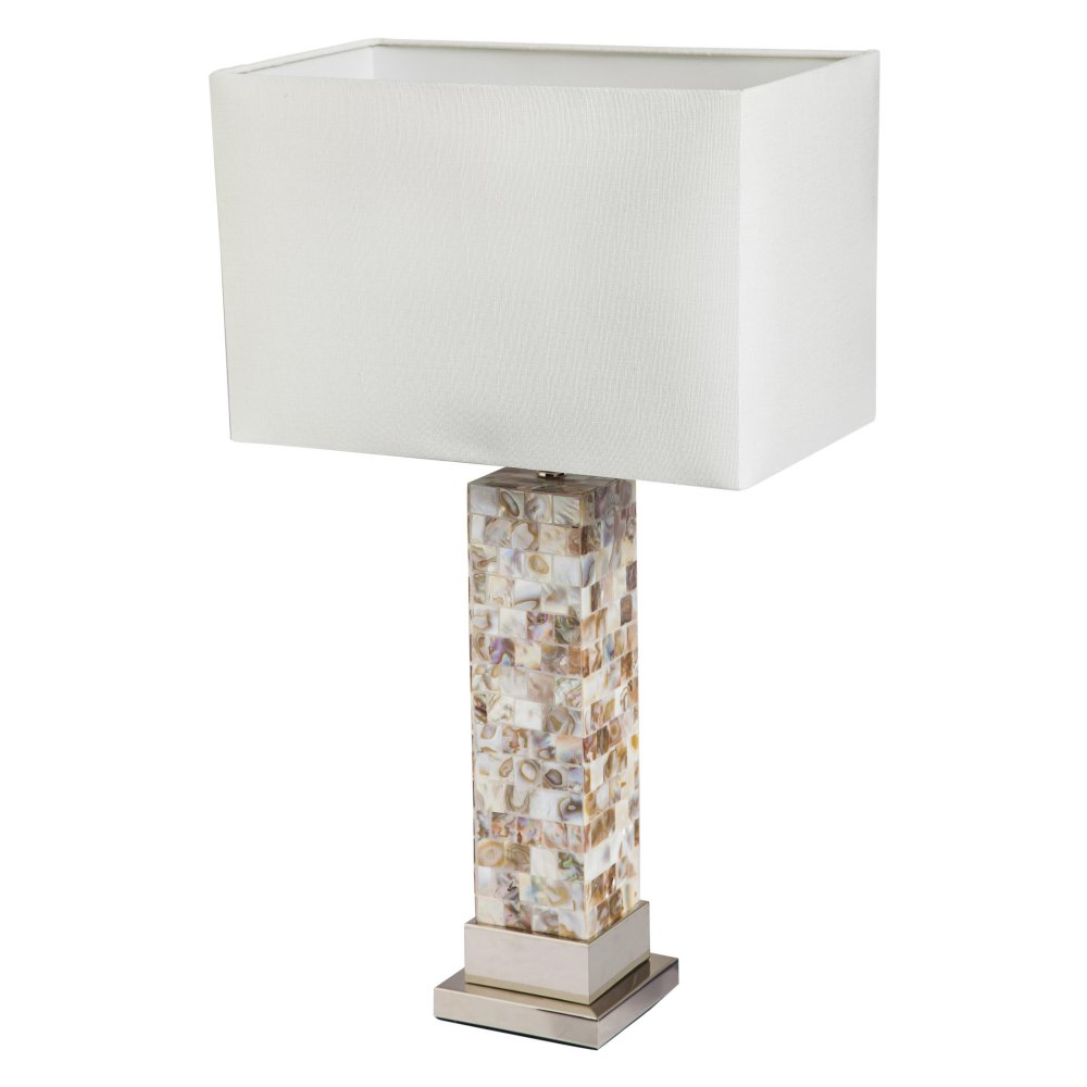Mother of pearl table lamp salty home aloadofball Choice Image