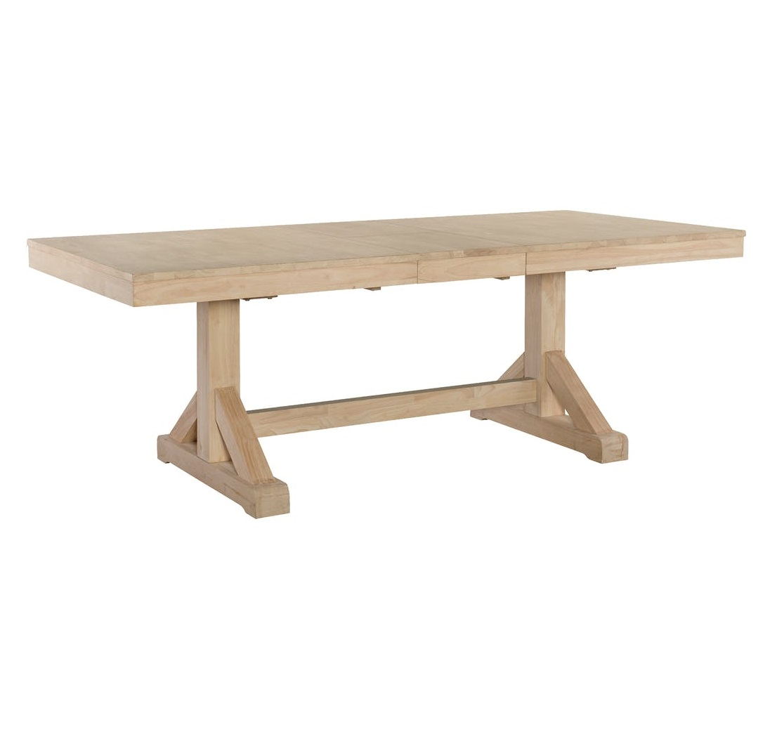 Butterfly Leaf Trestle Table Salty Home
